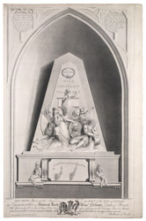 The Monument in Guildhall of the City of London in Commemoration of Admiral Lord Viscount Nelson